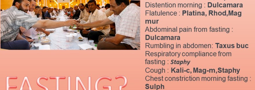 fasting Side Effecys and Remedies in homeopathy