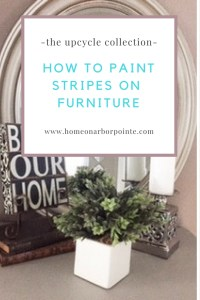 Paint Stripes on a Dresser