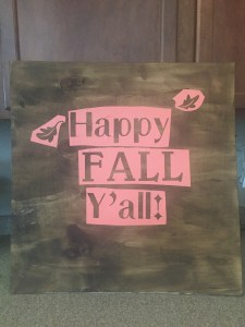 How to Make a Cute Sign for Fall