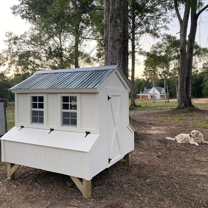 DIY Farmhouse Chicken Coop, DIY, Chicken Coop, DIY Chicken Coop, farm, homestead, self sufficient, organic eggs, fresh eggs, homegrown, backyard chickens