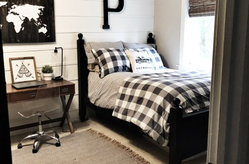 boys modern farmhouse bedroom reveal