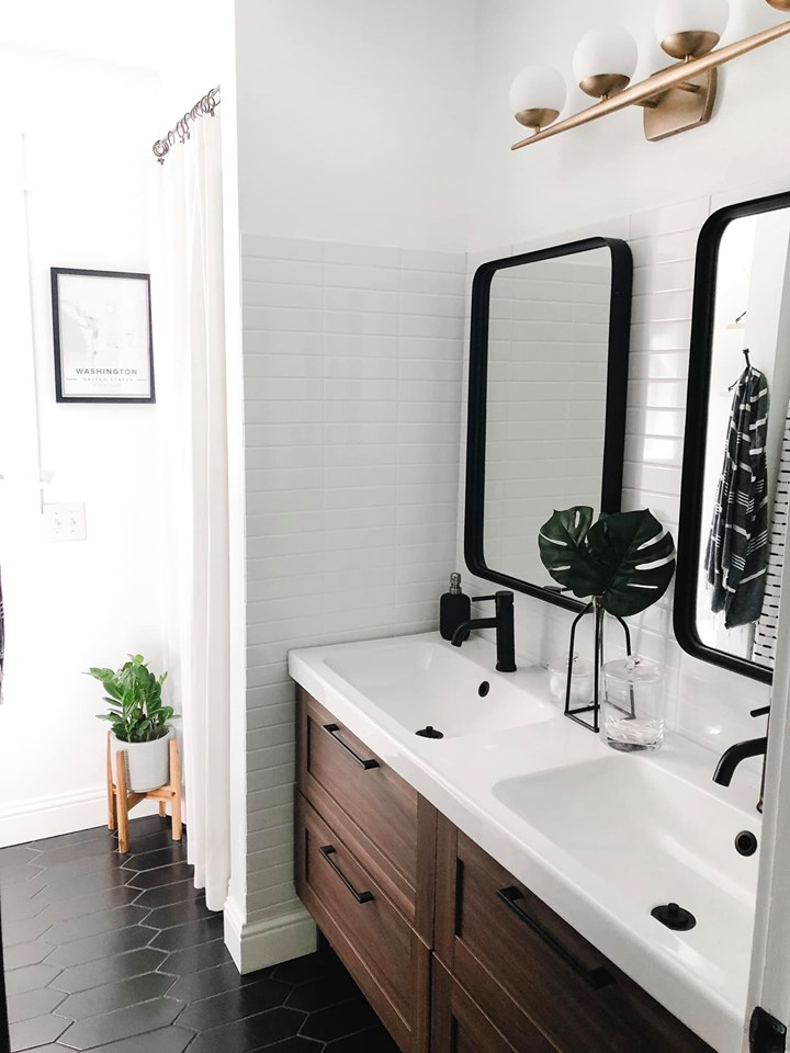 Boy S Mid Century Modern Bathroom Reveal Home On Mount Forest