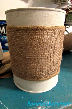 coffee can makeover burlap wrap