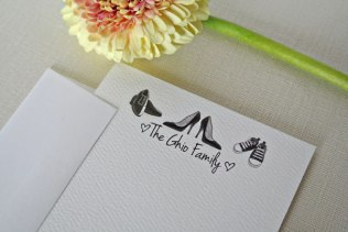 heels sneakers shoes personalized stationery card
