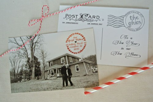 holiday moving new home postcard photo