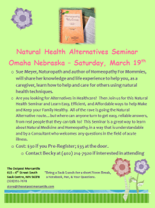 Omaha March 2016 Class Flyer