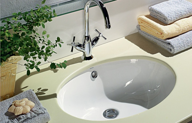 Countertop basin vouga