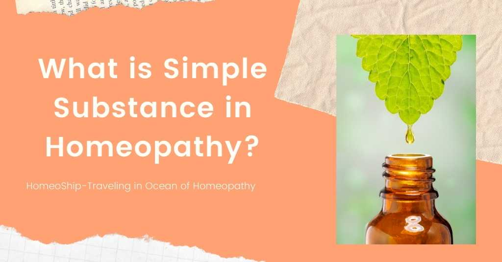 What is Simple Substance in Homeopathy?