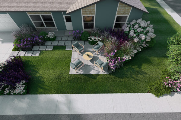Home-outside-landscape-design-Idaho-3D-Views-front-yard-design-aerial