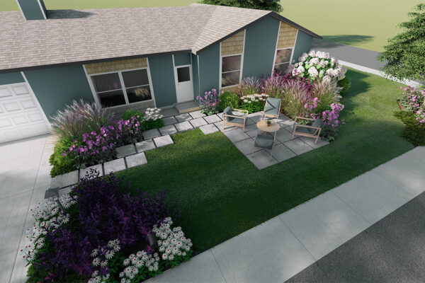 Home-outside-landscape-design-Idaho-3D-Views-front-yard-design-birdseye