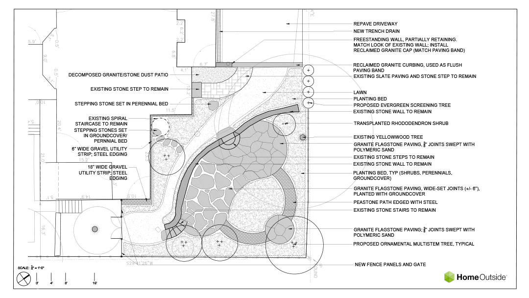 Home-Outside-landscape-design-Detailed-drawing-example