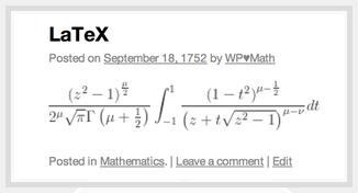 LaTex Makes Beautiful Math Jetpack for WordPress