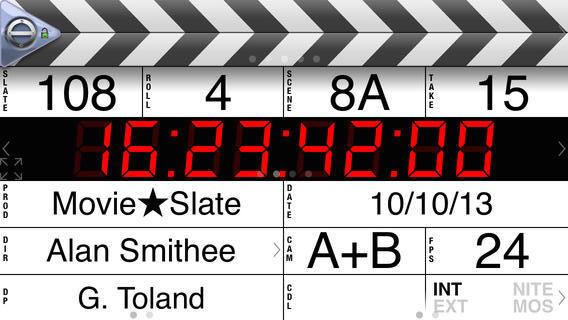 MovieSlate® (Clapperboard & Shot Log)