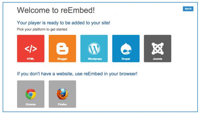 reEmbedのWEBサイトへの導入方法