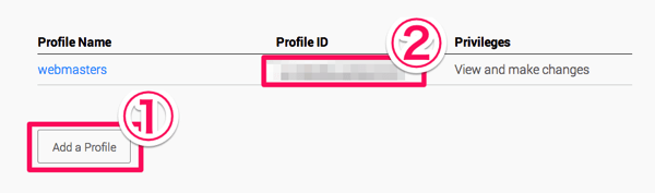 Profile IDの取得