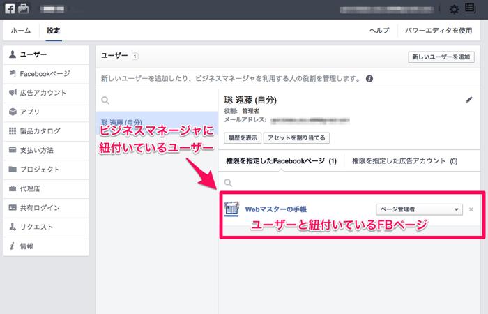 Facebookのビジネスマネージャでユーザーを追加