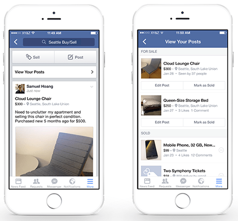 参照元:Introducing New Features in Facebook Groups to Improve the Way People Buy and Sell | Facebook Newsroom