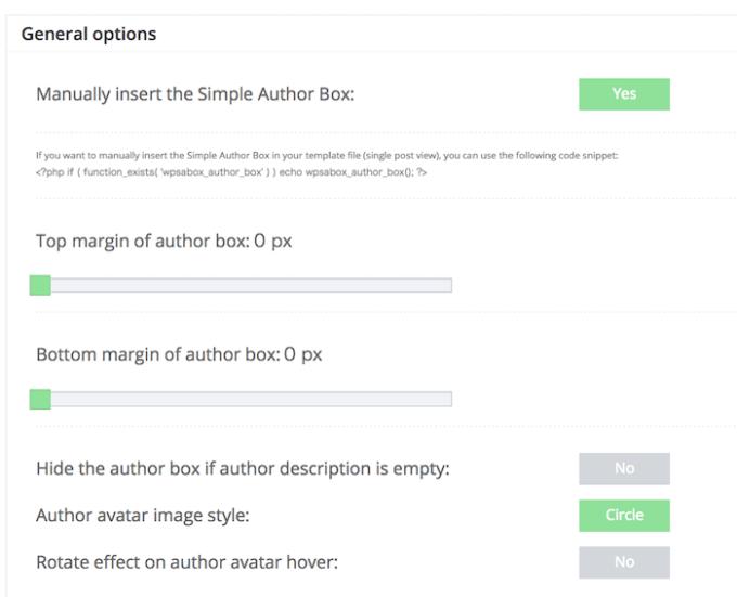 Simple Author Boxのカスタマイズ設定1
