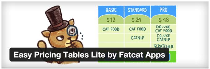 とっても簡単に料金表が作れるWordPressプラグイン【Easy Pricing Tables】