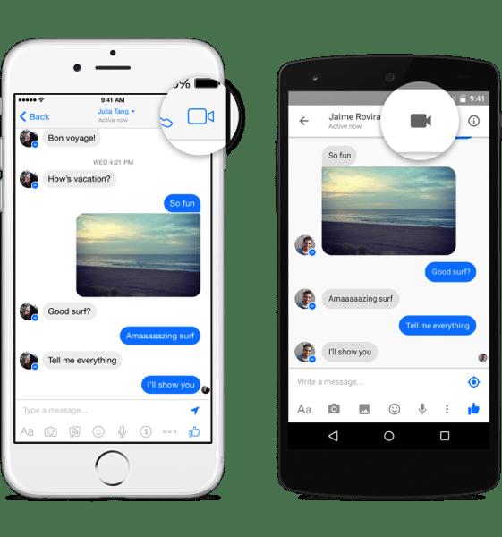 Facebookビデオ会話のやり方