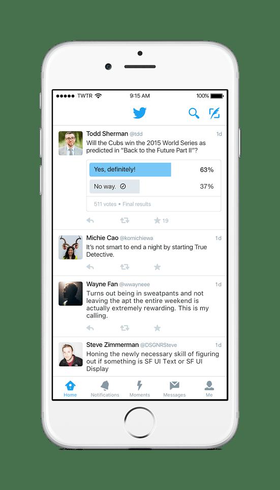 Twitterでアンケート調査結果の表示
