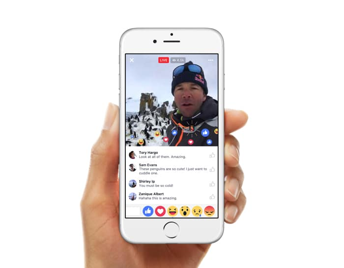 Live Reactions iOS
