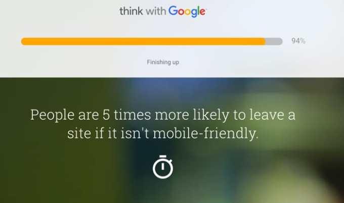 Mobile Website Speed Testing Toolでチェック中