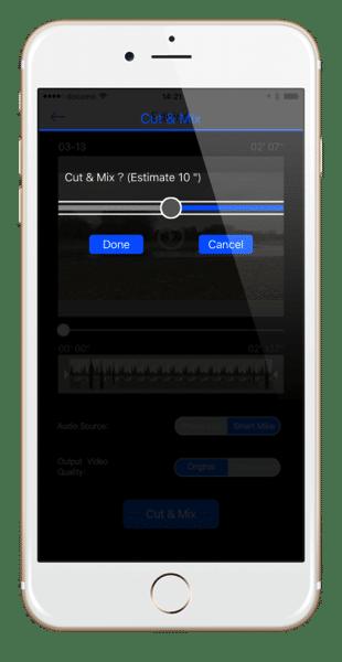 Smart Mikeのアプリで音声mix