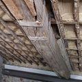 solaio in legno realizzato intoprno al 1600