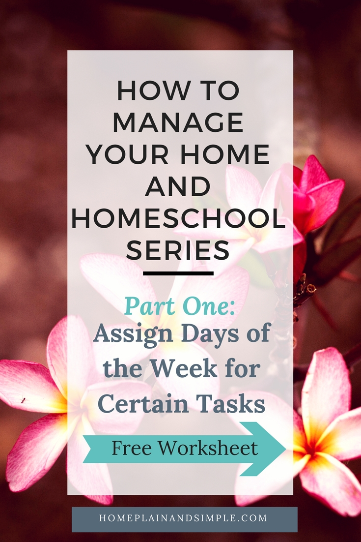 Assign Days of the Week for Certain Tasks