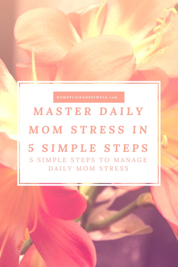 Master Daily Mom Stress in Five Simple Steps
