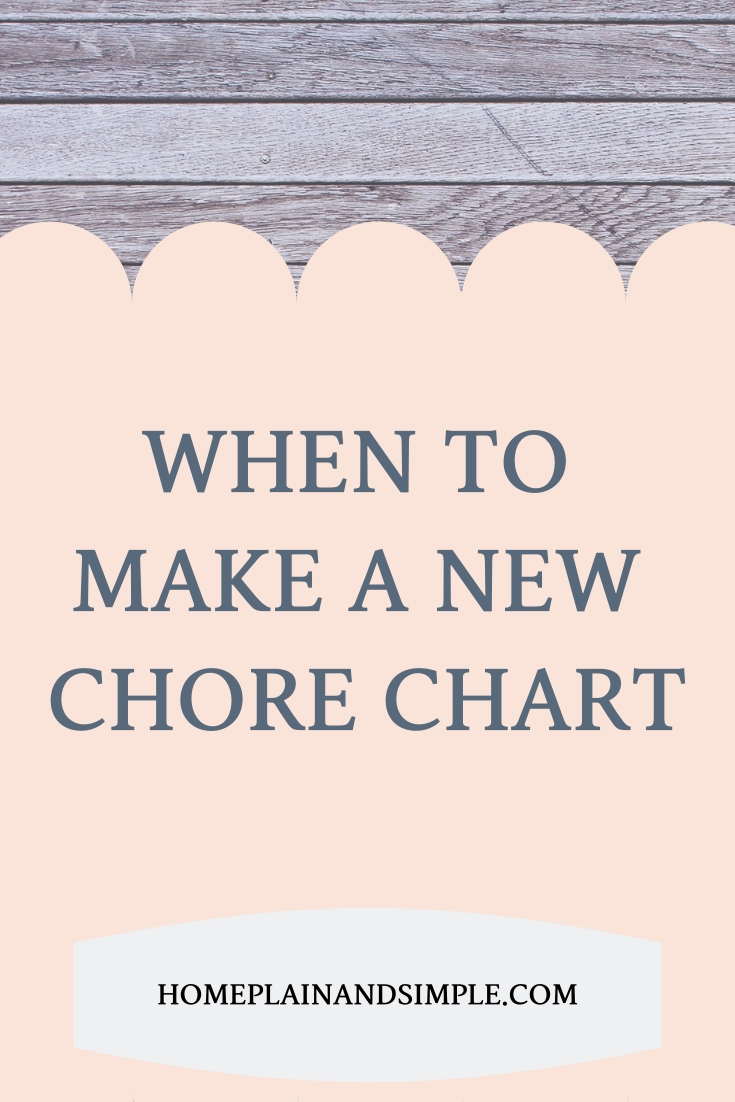 In this post, read why and why to make a new chore chart for your family!