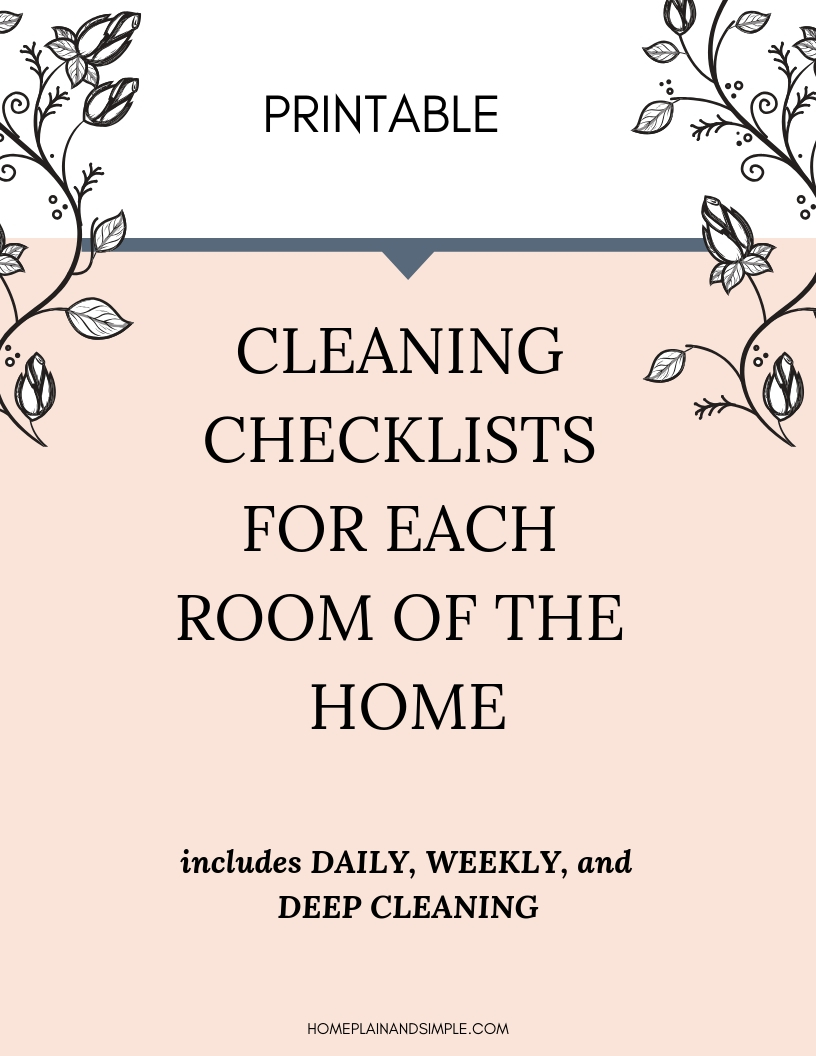 Spring Cleaning Checklists for each room of the home