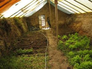 An underground greenhouse or walipini