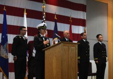 EVERETT, Wash. (Nov. 9, 2016) Marysville Navy Junior Reserve Officer Training Corps sings the national anthem during the annual Naval Station Everett Veterans Day ceremony in the Grand Vista Ballroom. The event honors veterans, past and present, who served in the United States Armed Forces. (U.S. Navy photo by Petty Officer 3rd Class Joseph Montemarano/Released)
