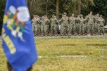 GARDINER, Wash. (Nov. 11, 2016) U.S. Navy Seabees stand in formation during a Veterans Day ceremony hosted by Naval Facilities Engineering Command Northwest at Gardiner Cemetery. The ceremony paid tribute to the only Seabee Medal of Honor recipient and Vietnam veteran, Construction Mechanic 3rd Class Marvin Glenn Shields, who was posthumously awarded the nation's highest military award for his actions taken and giving his life to save comrades while under enemy attack. (U.S. Navy photo by Petty Officer 1st Class Cory Asato/Released)