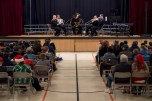 161214-N-ZP059-065 SILVERDALE Wash., (Dec. 14, 2016) Navy Band Northwest's Brass Quintet performs a holiday concert at Central Kitsap Middle School for parents, students and staff. This was the first time that the Brass Quintet has played at Central Kitsap Middle School. (U.S. Navy photo by Petty Officer 2nd Class Jacob G. Sisco/Released)