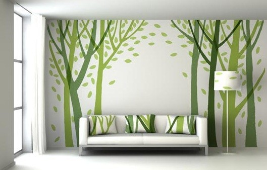 Creative and Cheap Wall Decor Ideas for Living Room   Home Interiors Green Wall Decor Ideas for Living Room