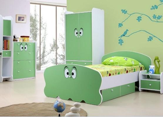 green bedroom furniture set for kid