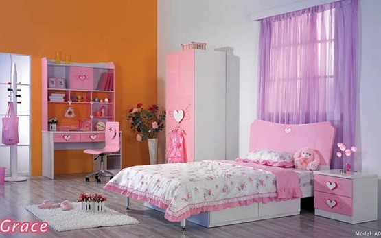 pink & white girls bedroom furniture and bedding sets | home interiors