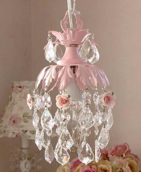 teardrop princess chandelier for girl bedroom | home interiors