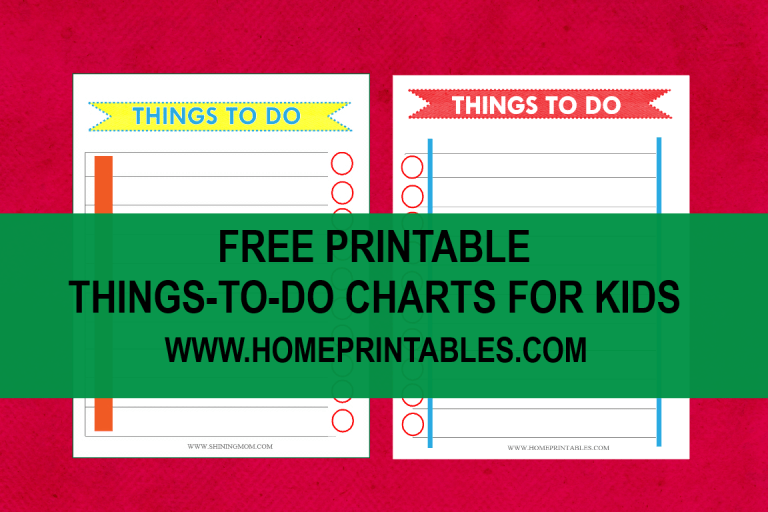 Free Printable To-Do List!