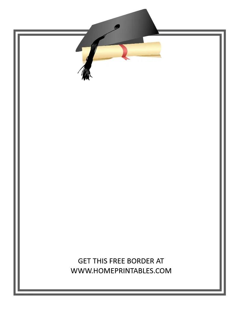 free graduation border 6