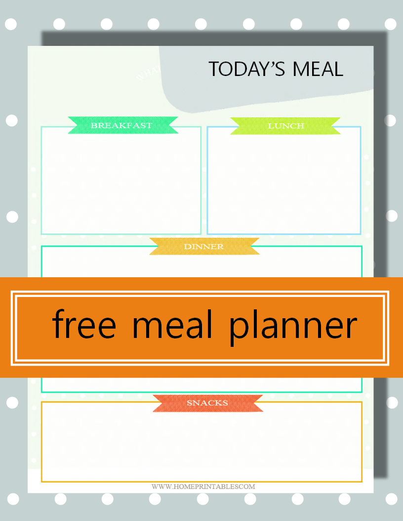 use our free daily menu planner home printables