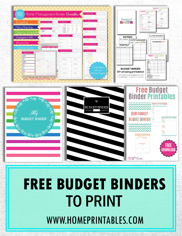 Handpicked: 10 Free Budget Binders to Print!