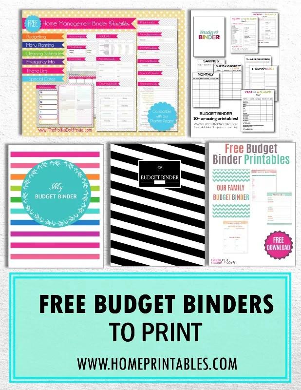 free budget binders