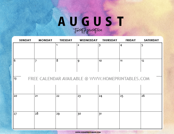 Monday Thru Friday Calendar | Calendar Printable 2019