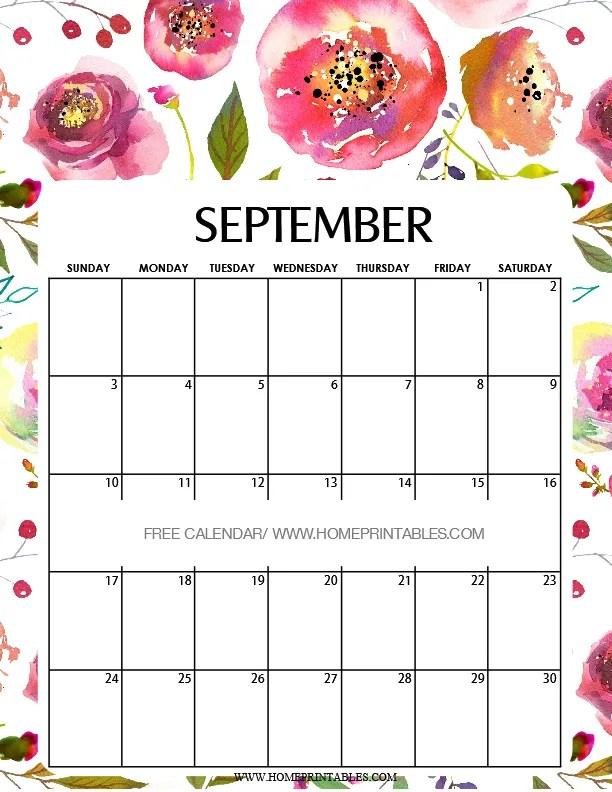 Calendar September 2017