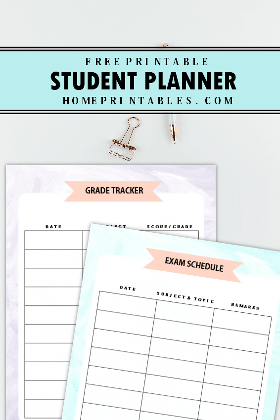 picture regarding Grade Tracker Printable named The Extraordinary University student Planner Absolutely free Printable towards Employ These days!