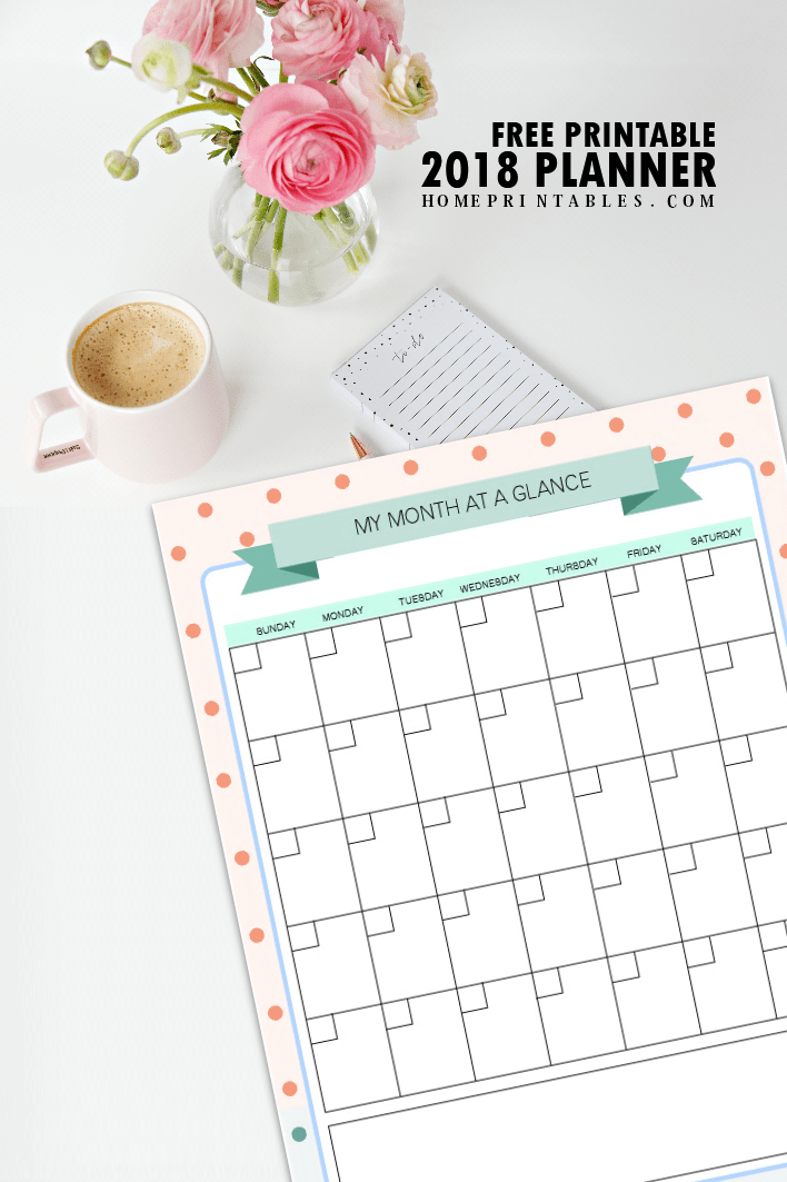 FREE Printable 2018 Planner: 25 Amazing Organizers! - Home ...
